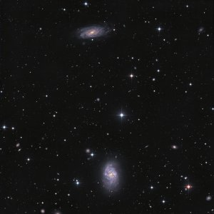 NGC 1087+1090 Galaxies in Cetus