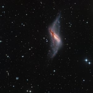 NGC660 Polar Ring Galaxy in Pisces