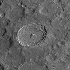 Moon Tycho Crater 2015
